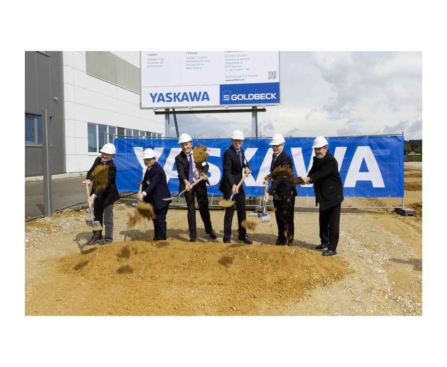 Ground-breaking ceremony for the Yaskawa extension complex in Allershausen